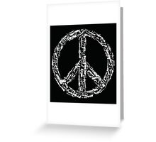 Weapon Peace black Greeting Card
