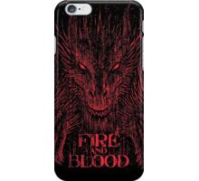 Fire and Blood iPhone Case/Skin