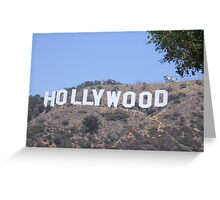 The World Famous Hollywood Sign Greeting Card