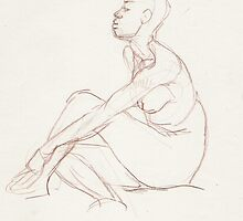 Quick study of a seated woman by Fiona O'Beirne