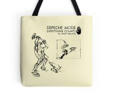 """Depeche Mode : Everything Counts 12"""" -2- Black Tote Bag"""