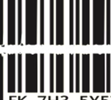 Barcode bullet Sticker