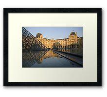 La Louvre Framed Print