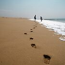 Walk on the beach by Rebecka Wärja