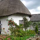 Thatched Roof Cottage by Cathy Klima