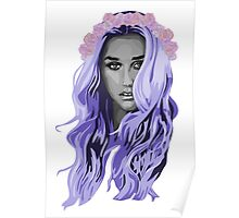 kesha with a rose crown Poster