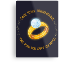 One Ring Arkenstone Metal Print