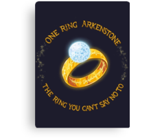 One Ring Arkenstone Canvas Print