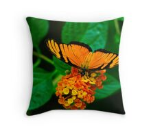 Banded-orange butterfly Throw Pillow