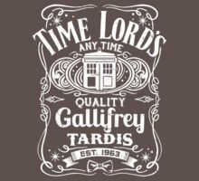 Doctor Who Time Lord's Quality Gallifrey Tardis Distressed Design Kids Clothes