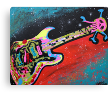 Space Guitar Canvas Print