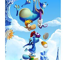 Rayman & Friends Custom Case by Cyberbob