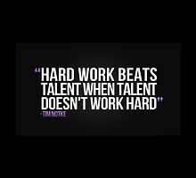 Athlete Sports Quote- Hard work... by Katheridiot