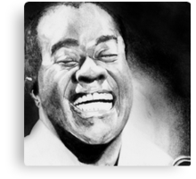 Portrait of Satchmo Canvas Print