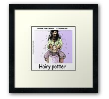 Hairy Potter  Framed Print