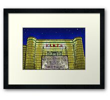 Art Deco Plaza Port Talbot - An Old Touch of Class Framed Print