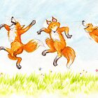 dancing foxes by Liesl Yvette Wilson