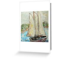 On a Cloudy Day - Impressionist View Greeting Card