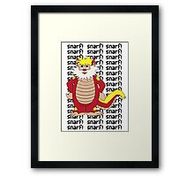 SNARF Framed Print