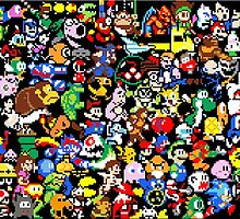 8-Bit Gaming Mural by Sweet101