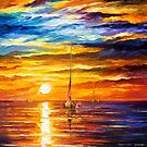 Lonely Sea 3 — Buy Now Link - www.etsy.com/listing/214682815 by Leonid  Afremov