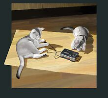 Cats and Walkman by Martine Carlsen