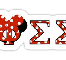 Phi Sigma Sigma Minnie Mouse Sticker