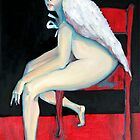 Angel wings on chair by Byron  Tik