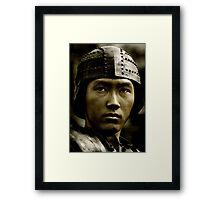 Asian Warrior Framed Print