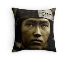 Asian Warrior Throw Pillow