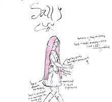 NBC Sally Costume Design Sketch by ThePirateKing