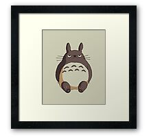Grumpy Totoro Framed Print