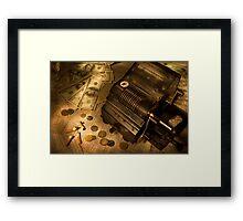The stock market Framed Print