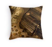 The stock market Throw Pillow