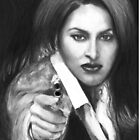 Pam Grier as Jackie Brown by Carliss Mora