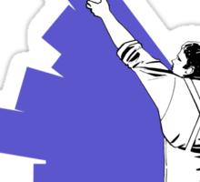 Renovate yourself - blue Sticker
