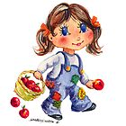 APPLE GIRL by SHARON SHARPE by sharonsharpe