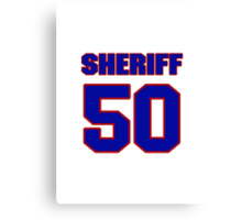 National football player Stan Sheriff jersey 50 Canvas Print