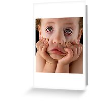 Sick of photos today mum! Greeting Card