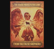 BioShock Infinite – The Tower Protects the Lamb from the False Shepherd Poster by PonchTheOwl