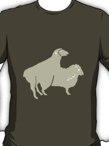 SHEEP COUPLE  SHAPE ANIMAL T-Shirt