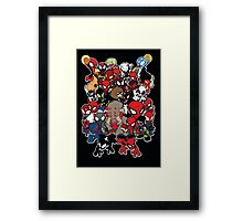 Spidey across time and space Framed Print