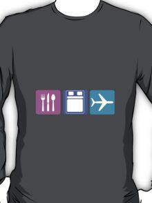 EAT SLEEP FLY TRAVEL LIFESTYLE T-Shirt