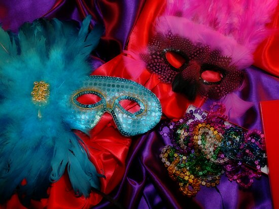 Mardi Gras Masks by Barbara Gordon