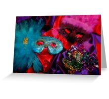 Mardi Gras Masks Greeting Card