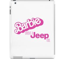 VINTAGE BARBIE JEEP iPad Case/Skin