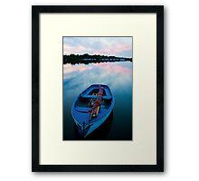 Dinghy at Sunset Framed Print
