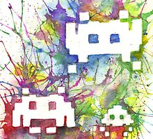 Rainbow Space Invaders by conniekidd