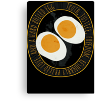 Truth, Justice, Freedom, and a hard boiled egg Canvas Print