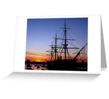 HMS Warrior at Sunset Greeting Card